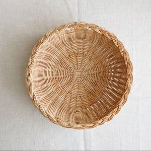 Boho Wicker Wall Basket